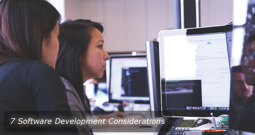 software development considerations