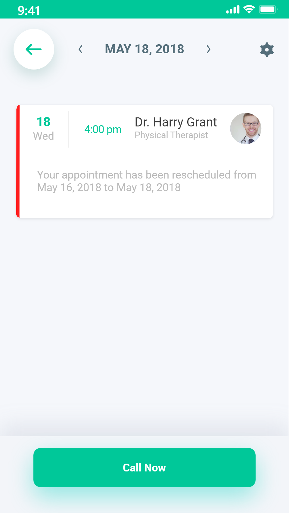 Appointment details