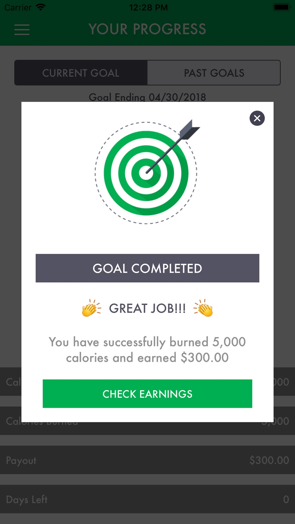goal completed